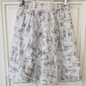 Retrolicious ModCloth Aviation Airplane Skirt